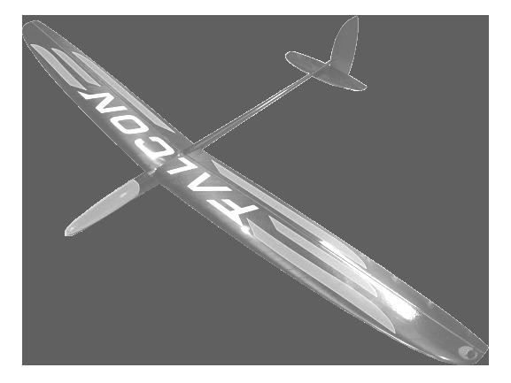 Bauservice F3K / DLG: Falcon komplett inkl. Servos und LiPo
