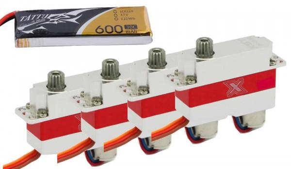 KST Servo + LiPo Set für Auri / Falcon / Vortex / NRJ / Stark etc. 1,5m F3K